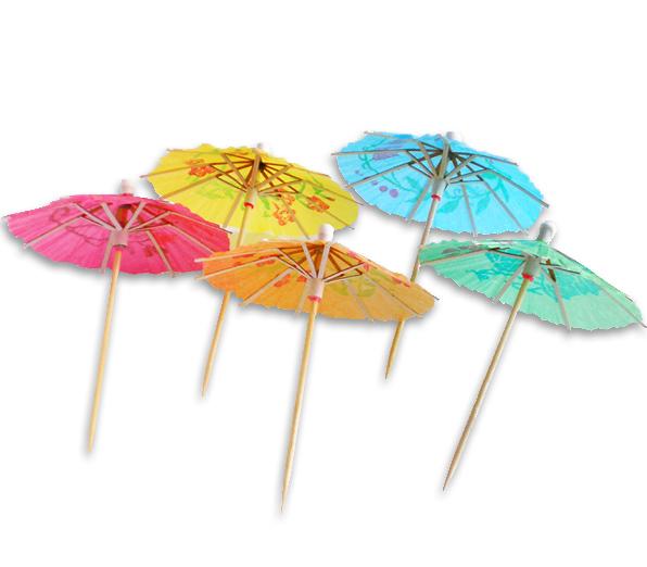 Шпильки зонтик бумажный, 100 мм, 144 шт.