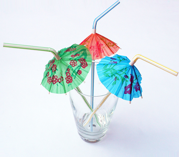 Трубочки зонтик, 240х5 мм, 100 шт.