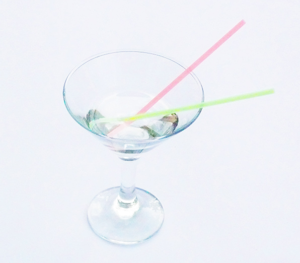 Трубочки для мартини, неон, 140х4 мм., 1000 шт